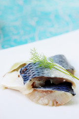 Pickled herring, spicy snack