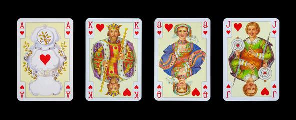 Spielkarten in Luxus und Nostalgie - HERZ