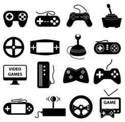 video game control icons set