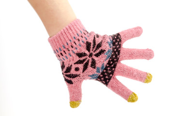 The mitten on the hand