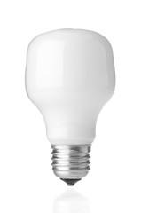 Energy saving lamp on white background