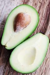 avocado fruit on a wooden board