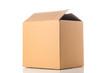 Leinwandbild Motiv Cardboard box closeup