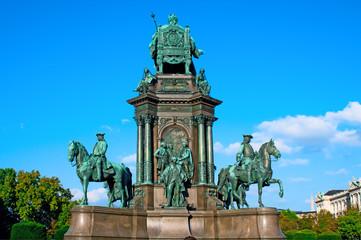 Maria Theresia monument  in Vienna, Austria