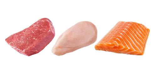 Rindfleisch - Geflügel - Lachs