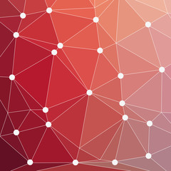 Seamless triangle pattern. Vector background red