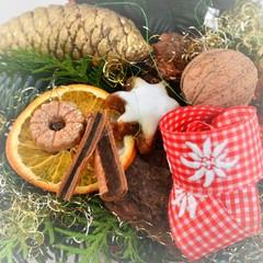 Weihnachtsgewürze auf Tannengrün