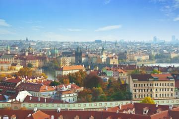 Landscape of Prague in autumn