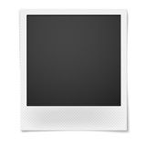 Polaroid photo frame isolated on white background poster