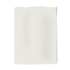 Notebook squared paper isolated on white