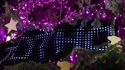 Christmas Pink Led Light Tree Detail