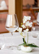 canvas print picture - detail of elegant restaurant table