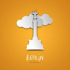 Berlin, Germany. Yellow greeting card.