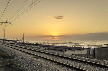 Ferrovia - Veduta al tramonto