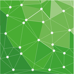 Seamless triangle pattern. Vector background green
