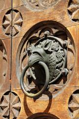 testa di grifone; maniglia porta ovest Duomo di Trento