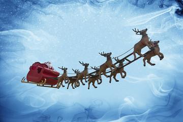 Santa Claus and snow fantasy!