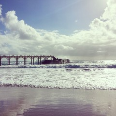 Molo in spiaggia