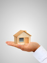 Iconic mini house in the hand