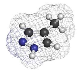 Fomepizole methanol poisoning antidote molecule.