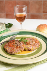 girelle di macinato Con prosciutto,formaggio e pistaccho