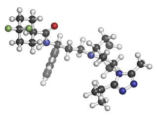 Maraviroc HIV drug molecule (entry inhibitor class).