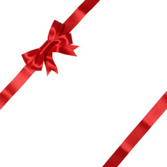 Band mit Schleife auf Karte für Geschenke an Weihnachten oder V