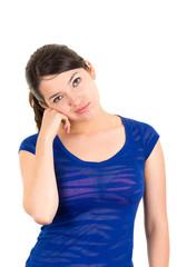 beautiful young brunette latin girl posing