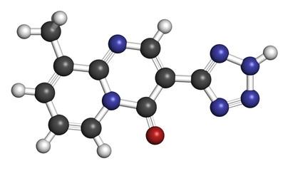 Pemirolast eye allergy drug molecule.