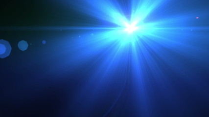 Blue lens flare background