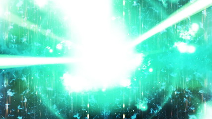 Blue Beams and Particles Abstract Looping Animated Background