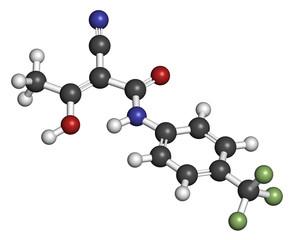 Teriflunomide multiple sclerosis (MS) drug molecule