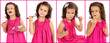 Cute little girl collage