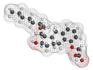 Treprostinil pulmonary arterial hypertension drug molecule.