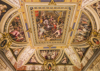 frescoes on the ceiling of one of the rooms in the palace Vecchi