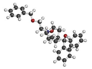 Umeclidinium bromide COPD drug molecule.