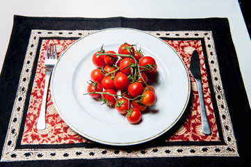 Tomatoes on the plate