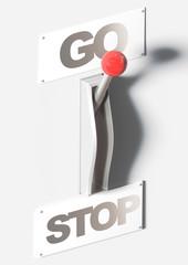 Leva manuale go stop