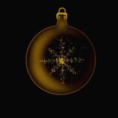 adorno de navidad y estrella con  brillos