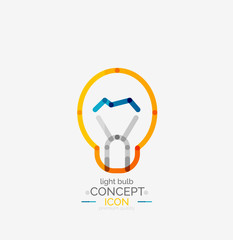 Light bulb minimal design logo