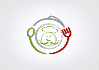 Icon chef Business Symboll Food logo restaurant Abstract