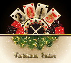 Christmas casino happy new 2015 year cards