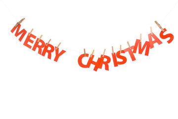 Merry Christmas hanging paper decoration
