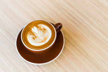 Latte coffee cup