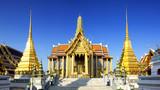 Wat Phra Kaeo, Temple of the Emerald Buddha Bangkok, Asia Thaila
