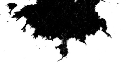 Ink blots are falling and spread in 3840X2160 4K UHD video.