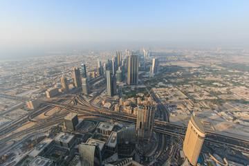 View of Dubai at sunset