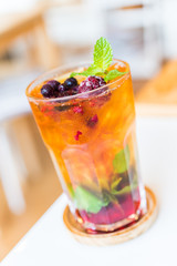 Fruits cocktail mixed