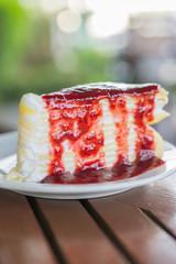 Strawberry crepe cakes
