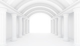 Empty White Room - 3d Perspective illustration